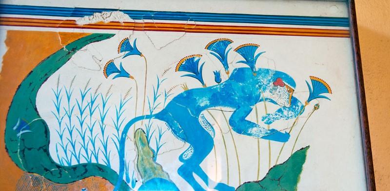 Scimmia blu. Blue Monkey. Knossos